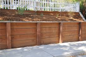 types of wood retaining wall