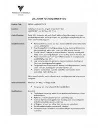 Retail Sales Associate Resume Objective Description Pics