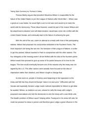 woodrow wilson study resources 6 pages league of nations essay