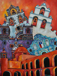 san antonio mission painting five missions by patti schermerhorn