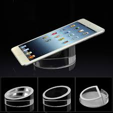 exclusive acrylic ipad stand 5pcs tablet security display holder round clear