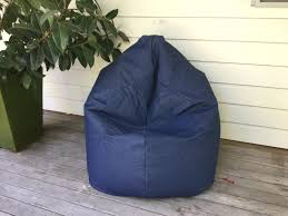 denim bean bag chair large how to make a ja 6ft co