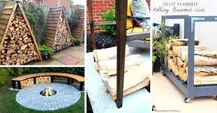 14 easy diy outdoor firewood racks to keep those logs perfectly safe cute diy projects