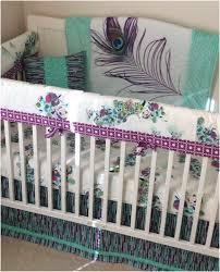 purple nursery bedding imposing baby girl crib bedding set teal purple mint peacock made to order
