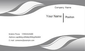 visting card format gray curve business card template