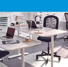 ikea office. a white bekant desk and flintan chair in an office ikea k