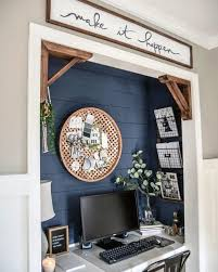 closet office. Blue Painted Shiplap Walls Interior Designs Closet Office