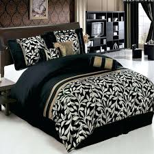 black white and gold bedding chandler black and gold full size luxury 7 piece comforter set