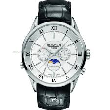 "men s roamer superior moonphase watch 508821411305 watch shop comâ""¢ mens roamer superior moonphase watch 508821411305"