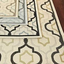 saybrook indoor outdoor rug gray with aqua 4 x 5 7
