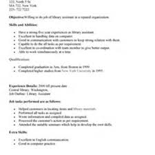 100 Librarian Resume Examples For Resume For Librarians