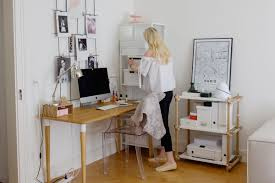 Victoria Steiner in IKEA HUS Story #5 in front of the home office with  HILVER