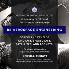 Graphic Design School In Davao Addu Offers Bs Aerospace Engineering For Sy 2018 2019