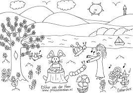 4 Lente Kleurplaten Voor Je Kinderen Droomvallei Uitgeverij