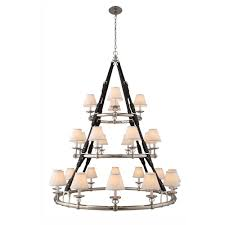 cascade 24 light polished nickel pendant lamp