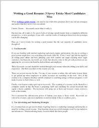 Writing Good Resume Sample Profile Titles Section Summary