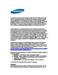 samsung strategic management case study a level business studies page 1
