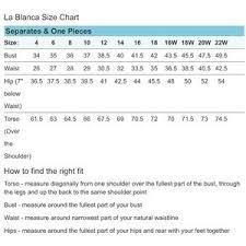 La Blanca Sweetheart Tankini Top See Size Chart