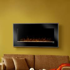 image of dusk wall mounted electric fireplace