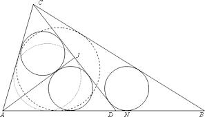 a trigonometric solution to a difficult sangaku problem