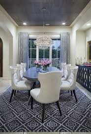 grey dining room furniture. Cream-colored Dining Room With Grey Rug, Curtains And Ceiling Furniture