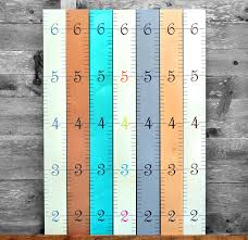 Details About Growth Chart Art Wooden Hanging Height Chart For Kids Boys And Girls Gray