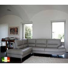 sectional sofa with chaise. Dalla Grey Top Grain Leather Left Hand Facing Sectional Sofa With Chaise