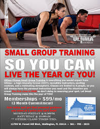 Training Flyer Ultima Fitness Ultima Small Group Training Flyer Update 3 20 17