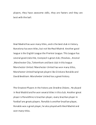 essay 4 finally the football