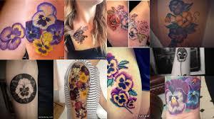 фото тату анютины глазки клуб татуировки фото тату значения эскизы