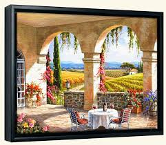 wine country terrace sk canvas art print