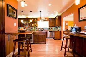 Peach Kitchen Peach Kitchen Wall Ceiling Floor Dark Wood Finish Cabinet Drawer