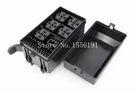 6 way auto fuse box assembly with terminals and fuse ,auto car fuse holder panel mount at Fuse Box Mounts