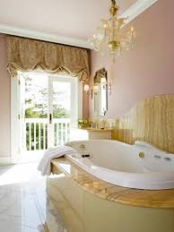 bathroom chandelier lighting ideas. bathroomsgold bathroom with oval bathtub under crystal chandelier and gold curtain idea lighting ideas n