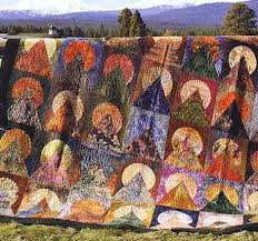 65 best Moon Over The Mountain Quilts images on Pinterest ... & Moon Over Mountain Batik Quilt Pattern by Jean Wells for Stitchin Post  Publications Adamdwight.com