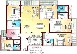 typical house plans nice 4 bedroom one story indian style 3d full size