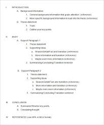 formal essay outline example essay outline template 4 free sample example format