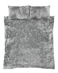 crushed velvet duvet quilt cover set bed linen