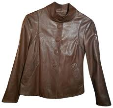 armani collezioni leather jacket image 0