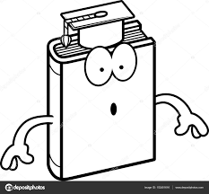 a cartoon ilration of a textbook looking surprised vector by cthoman
