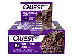 <b>Double</b> Chocolate Chunk - Quest <b>Protein Bars</b> – QuestNutrition