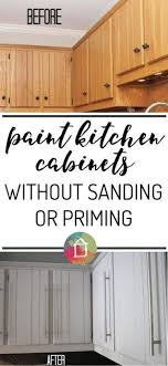 Repainting Kitchen Cabinets Without Sanding New Design