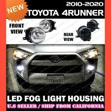 2018 Toyota 4runner Fog Light Bulb Size Details About Led Fog Lights For Toyota 10 20 4runner Replacement Housing Lamp Clear Pair