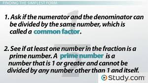 factor form definition what is simplest form definition how to write fractions in