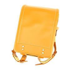 tsuchiya bag factory japanese school bag school satchel girls boys randoseru kids beige yellow leather popularity