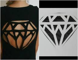 diy diamond cut out tee