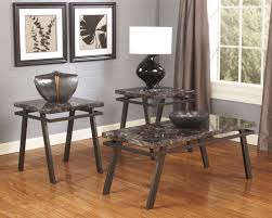 ashley furniture coffee table for the living room marble stone top coffee and end tables
