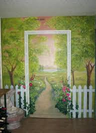 how to paint a wall mural picket fence garden provided by paint design wall murals paint