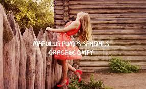 Mafulus <b>Womens</b> Pumps <b>Sandals</b> Pointed Toe Ankle Strap <b>Buckle</b>