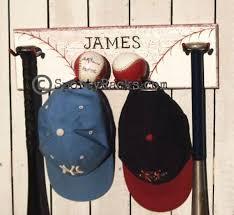 mancave baseball hat rack bat hanger